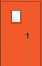 Дверь противопожарная двупольная остекленная EIS60